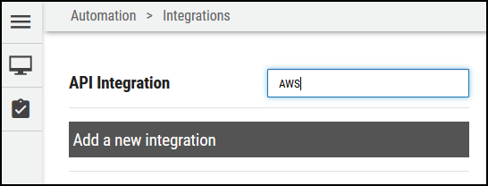 AWS Connector - Search for AWS Connector