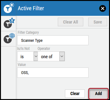 Active Filter - Add Button Location