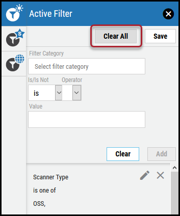 Active Filter - Clear All Button Location