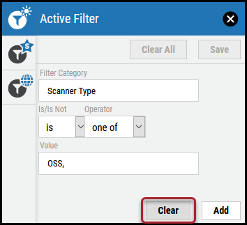 Active Filter - Clear Button Location