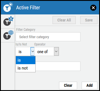 Active Filter - Is - Is Not