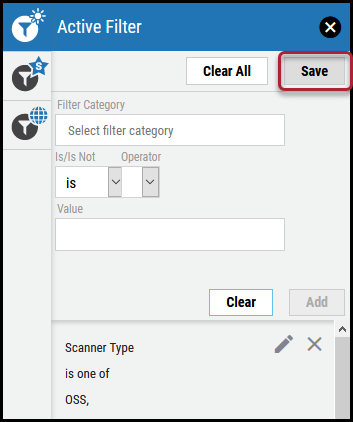 Active Filter - Save Button Location