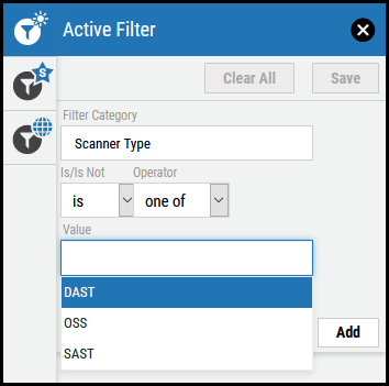 Active Filter - Value