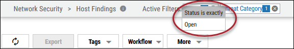Active Filters - Hover Over Top of Page