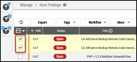 Assign Finding Self - Select Findings