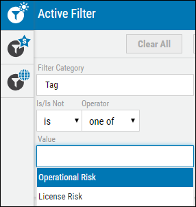 Black Duck Guide - Operational and License Risk Tag Filter