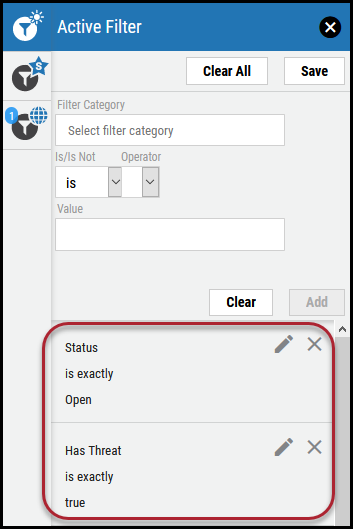 Clear Filter - Active Filter Panel With Filters