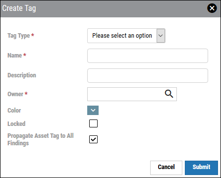 Create Tag List View - Create Tag Window