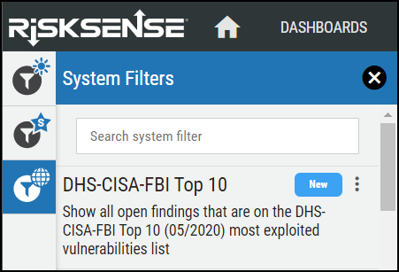 DHS-CISA-FBI Top 10 Filter
