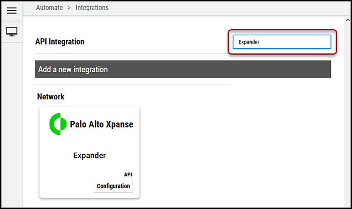 Expander Connector - Search for Connector