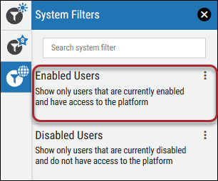 Filter Disabled Users - Enabled Users Filter Location