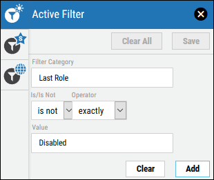 Filter Disabled Users - Hide Disabled Users Filter Specification