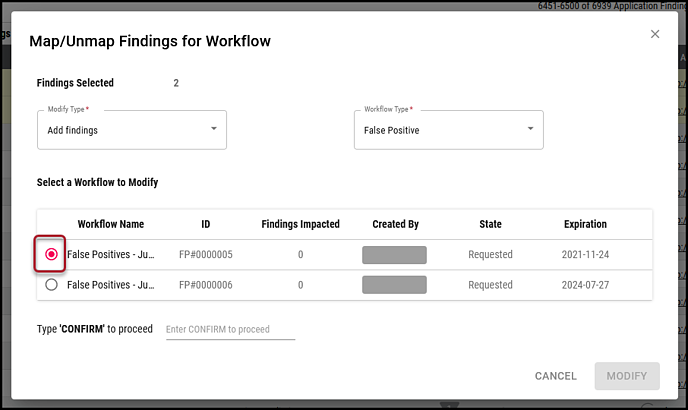 Findings to Workflow - Select Workflow-1