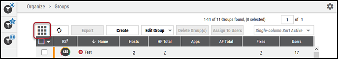 Groups Page - Card View Toggle