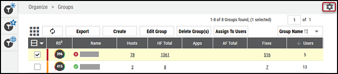 Groups Page - List View Settings