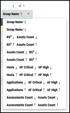 Groups Page - Page Sort