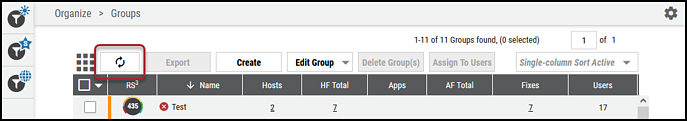 Groups Page - Refresh Button