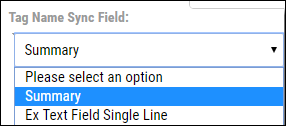 Jira Connector Guide - Tag Name Sync Field