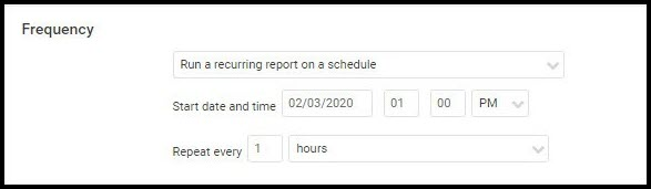 Nexpose Tag Report - Schedule Run Frequency