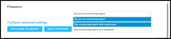 Nexpose Vuln Report - Run a Recurring Report After Every Scan