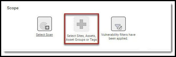 Nexpose Vuln Report - Select Sites Assets Asset Groups or Tags