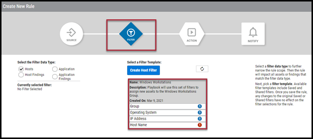 Playbook Auto Assign - Select Filter Template