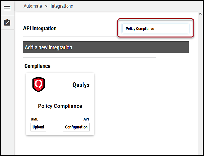 Qualys PC - Search for Connector