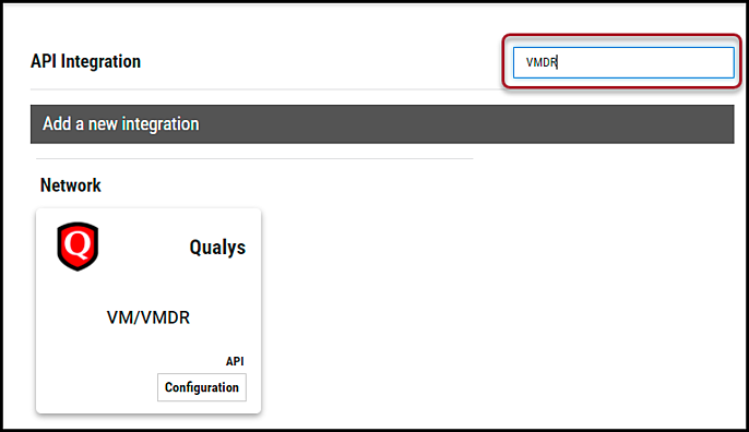 Qualys VMDR - Search for Connector