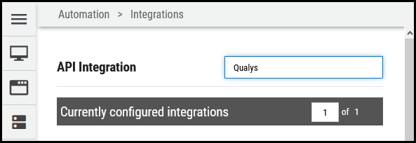 Qualys Vuln Connector - Searching for Qualys Integration