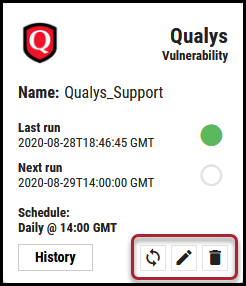 Qualys Vuln Connector - Sync Edit and Delete Button Locations