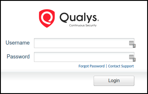 Qualys WAS - Login Screen