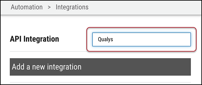 Qualys WAS Connector - Search for Qualys
