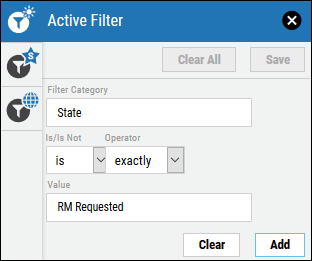 Remediation Filtering - RM Requested Filter Configuration