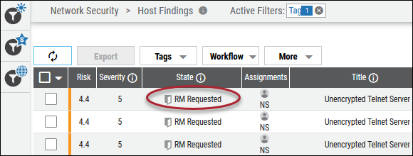 Remediation Request - State Changed to RM Requested