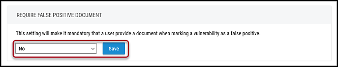Remove Document Requirement - Select No and Save