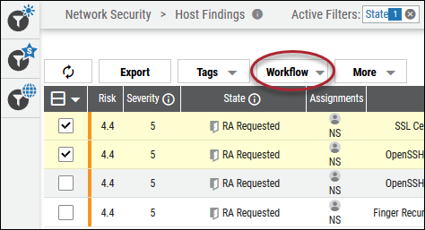 Risk Acceptance Approve - Workflow Button Location