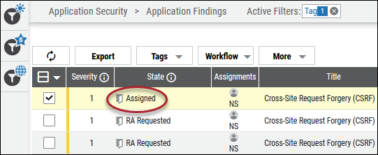 Risk Acceptance Reject - State Changed to Assigned