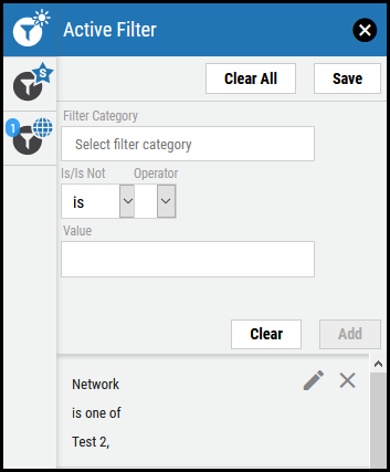 Save Active Filter - Added Active Filter