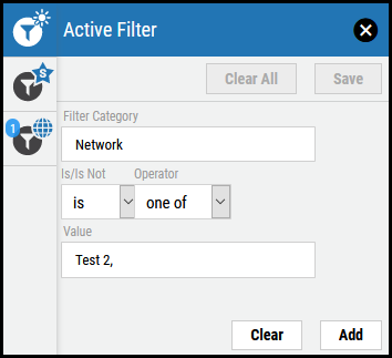 Save Active Filter - Select Criteria