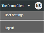 User Settings Menu Location