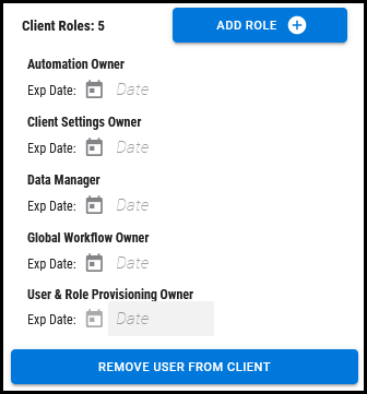 Users Page - Client Roles