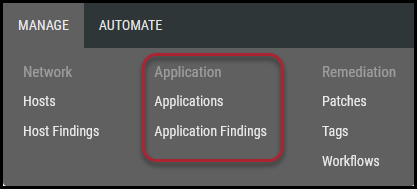 Veracode Connector - Applications and Application Findings Page Locations