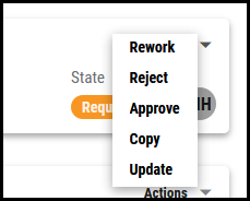 Workflows Page - Actions Menu Expanded
